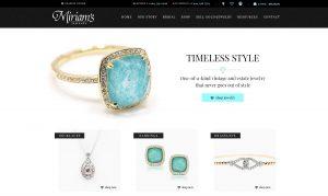 Miriam's Jewelry Website Design & Development